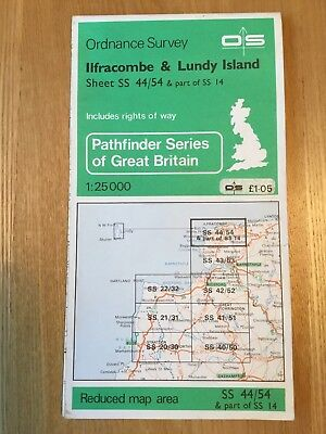 1968 Ordnance Survey Pathfinder Map Sheet SS44/54 Ilfracombe And Lundy Island