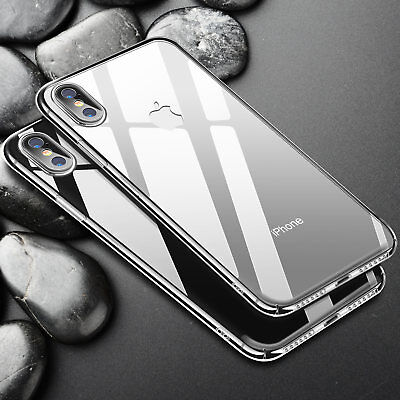 For iPhone X Luxury Ultra Thin Slim Clear Shockproof Protective Hard Case Cover