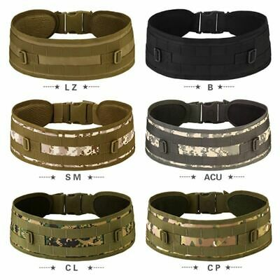 New Tactical Military Airsoft Molle Combat Waist Padded Belt Heavy Duty Web Belt