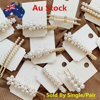 Lot Women Vintage Hair Clip Hair Pin Bobby Comb Barrette Acetate Pearls New