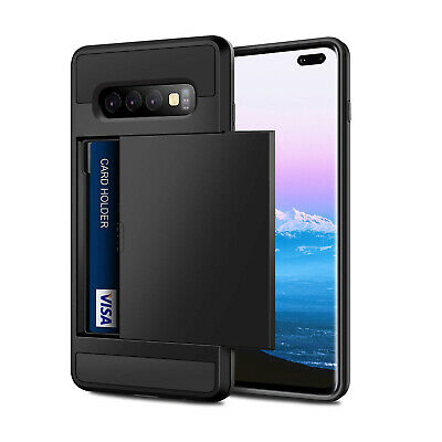 For Samsung Galaxy S10e S10 Plus Shockproof Hard Case+Wallet Credit Card Holder