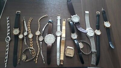 Job Lot Vintage Mens & Ladies Watches - wear/spares/repair/resale from 99p