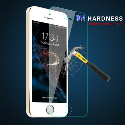 for iPhone X 5 6 7 8 Plus CLEAR Screen Protector trempé verre Film transparent