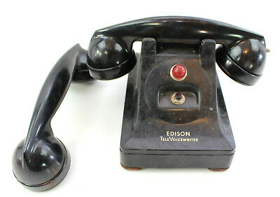 Antique Edison Televoice Bakelite Telephone Western Electric F2, F3 Vintage
