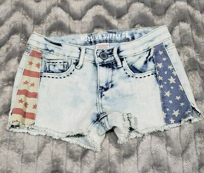 USA American Flag Womens Sporty Shorts Patriotic Beach Booty Miami Style Shorts