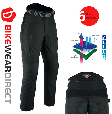 Motorbike Motorcycle Trousers Waterproof CE Armoured Biker Pants by [Texpeed®]