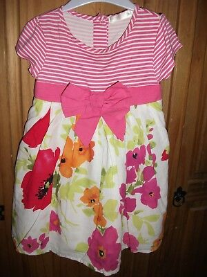 Baby Girls - M&CO - Pink Multi - Floral Print - Lined Dress Size 12-18 Months