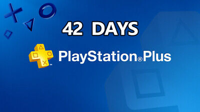 42 DAYS PS PLUS PlayStation PS4-PS3 -Vita ( NO CODE )