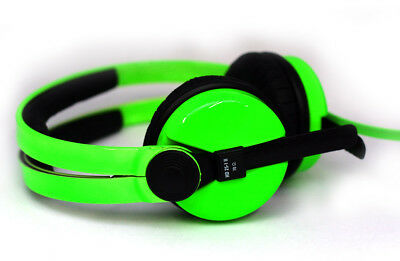 Custom Cans UV reactive Neon Green Sennheiser HD25 Headphones with 2yr warranty