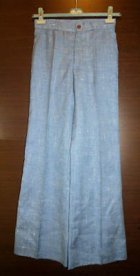 VINTAGE pantaloni donna in Terital Made in Italy del 1973 Hippie vita alta