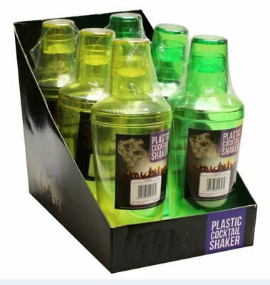 Pack of 6 Plastic Cocktail Shaker 480ML of Lightweight Shaker Family Parties