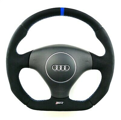 Steering Wheel Audi RS4 B5 ALCANTARA EXTRA PADDING !! STUNING FLAT BOTTOM