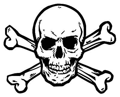 Skull & Crossbones Car Decal / Sticker