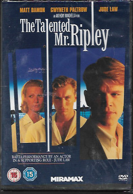 The Talented Mr. Ripley R2 Dvd Matt Damon Jude Law Gwyneth Paltrow New/Sealed