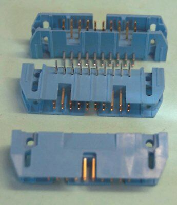 20 WAY RIGHT ANGLED PCB IDC CONNECTORS, THOMAS & BETTS/ANSLEY  - 3 off