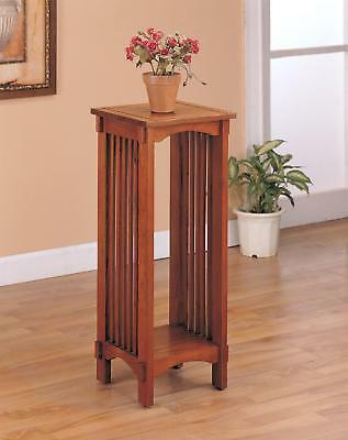 Mission Traditional Oak Plant Stand Warm Brown Traditional