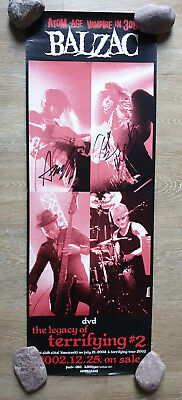 Balzac Official Poster Signed by whole band Horror punk Misfits