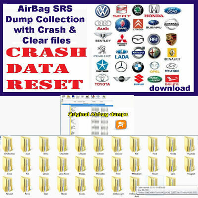 AirBag SRS Dump Collection with Crash & Clear files, Repair Airbag Unit**