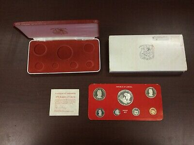 1976 Republic Of Liberia 7 Coin Proof Set