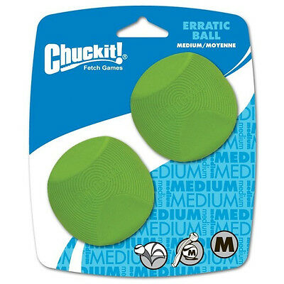 Chuckit! ERRATIC BALL Dog Toy 2Pk Fits Classic Launcher