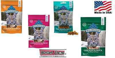 Blue Buffalo Wilderness Gato Chucherías Natural Saludable sin Grano en USA Sabor
