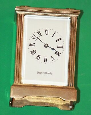 An early 20c French Carriage Clock c1880 retailed by MAPPIN & WEBB