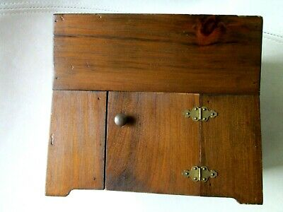 "vintage DRY SINK wood 18"" Doll Toy dough cabinet Furniture 6x7 DISPLAY USA 7/25"