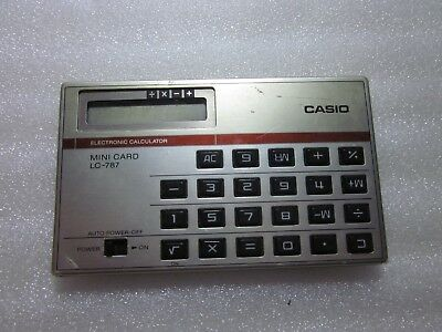 Casio LC-787 vintage retro calculadora electronica mini card