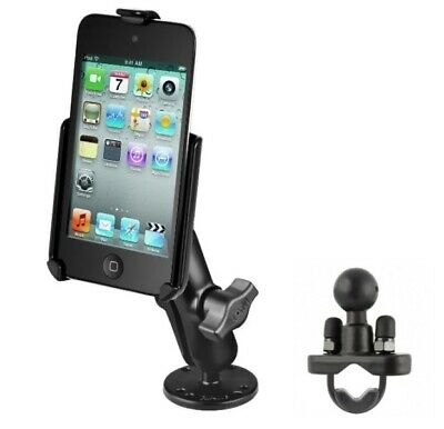 Flat Surface Car Mount + Rail Bike Mount Fits Apple iPod Touch 4th Generation