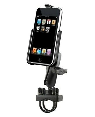 Handlebar Motorcycle Rail Pipe Mount Fits Apple iPod touch 2nd & 3rd Generation