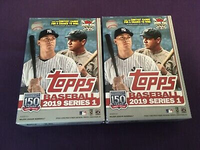2019 Topps series 1 LOT of 2 Walgreens Exclusive Hanger Boxes Yellow Parallels