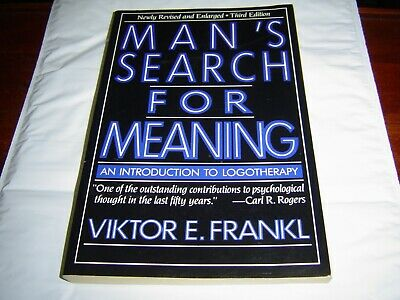"""""""GOOD COND"""" MAN'S SEARCH FOR MEANING by Viktor E. Frankl (1984)"""