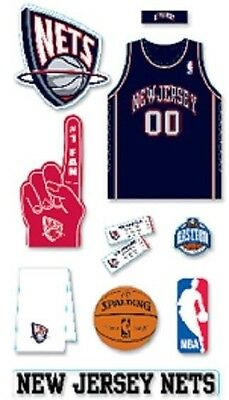 BASKETBALL NEW JERSEY NETS Mascot Fan Jersey Play NBA Team Stickers