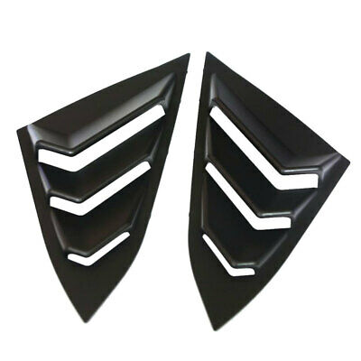 Pair Matte Car Rear Window Blinds Side Tuyere Cover Replaces for Honda Civic
