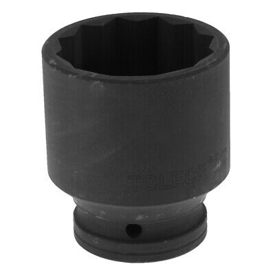 3/4-inch Square Drive 46mm Hex 12 Point Impact Socket Black