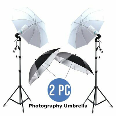"4x33"" Photo Video Studio Umbrella Reflector Photography Stand Lighting Kit KJ"