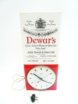 Vintage Dewar's Whisky SMITHS Advertising Clock c.1950's Rare Example