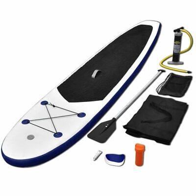Stand Up Paddle Board Set SUP Surfboard Inflatable Blue and White X3J1