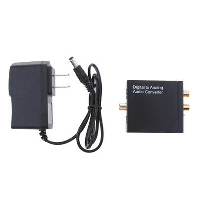 Digital to Analogue Audio Converter Coax Optical Toslink RCA L/R Adapter