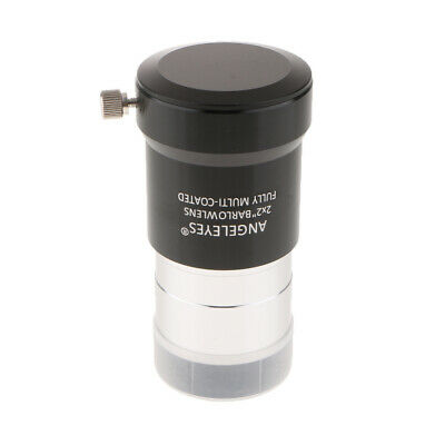 For Celestron Telescope Lens Eyepiece 2X 2 Inch Optical Glass with 2x Cover