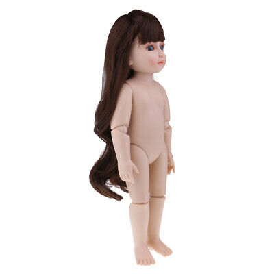 DIY Moveable Nude Jointed for SD BJD Girl Doll Body Part DIY 45cm/18inch