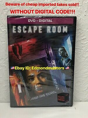 ESCAPE ROOM 2019 DVD + Digital Beware of Cheap Low Quality Fakes w/o Digital