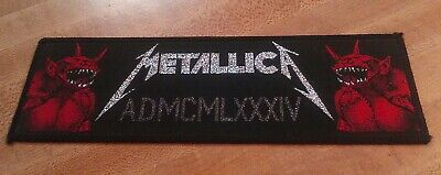 f10c387e Mega Rare Vintage Original METALLICA 'Jump in the Fire' patch ride  lightning,lp
