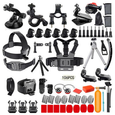 For GoPro Hero 6/5/4/3+/3/2 1 Action Cameras Accessories Set Kit 63 in 1