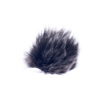 Universal Clip On Lavalier Lapel Microphone with Fur Wind Muff Windscreen
