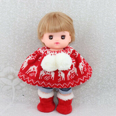 Fashion Cloak Clothes Outfit for 25cm 10inch Mellchan Girl Doll Xmas Gifts