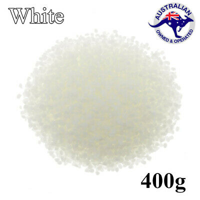 400g White Pure Beeswax Pellets Natural Bees Wax Pastilles for Lipstick Making