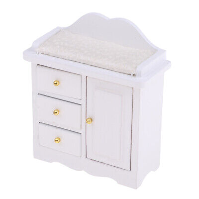 1:12 Dollhouse Furniture - Miniature White Cabinet Models For Kids Toy Gift
