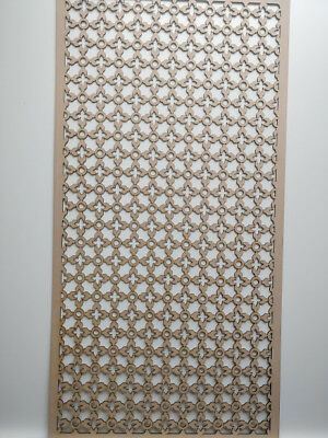 Radiator Cabinet decor.Screening Perforated 3mm & 6mm thick MDF laser cut K5