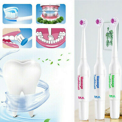 AU Rechargeable Electric Toothbrush SOFT Oral Clean Teeth Brush 3* Brush Heads
